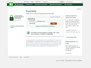 td trust easyweb